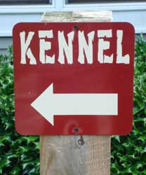 Shady Oaks Kennel Sign